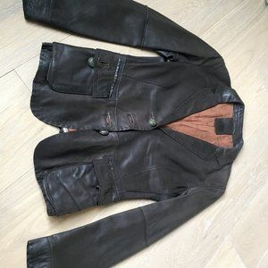 Super cool leather blazer